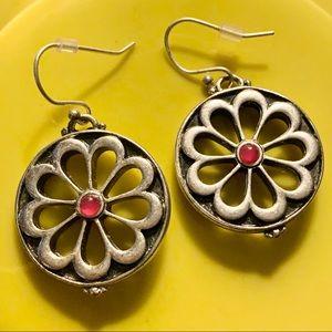 Lucky Brand boho circle earrings